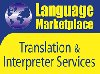 Language marketplace translation services logo