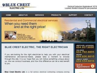 Blue Crest Electric Ltd, #107 - 30444 Great Northern Avenue , BC, Abbotsford