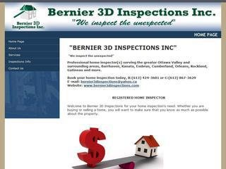 Bernier 3D Inspections Inc , ON, Ottawa