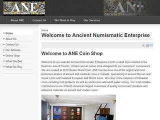 Ancient Numismatic Enterprise, 2219 Queen Street East , Lower level, ON, Toronto