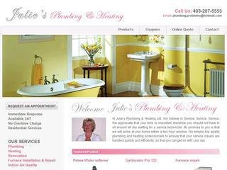 Julies Plumbing and Heating, 3208 8th Street NE , Unit 518, AB, Calgary