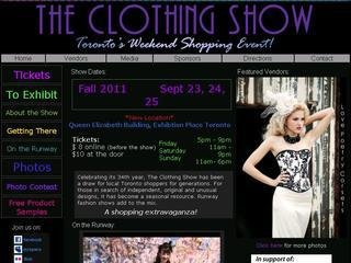 The Clothing Show -  SPRING  - May 14, 15, 16, 2010, The Better Living Centre , Exhibition Place, ON, Toronto