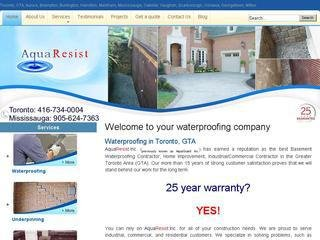 AquaResist, 3208 Lenworth Drive , ON, Mississauga