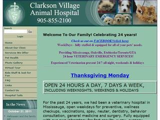 Clarkson Village Animal Hospital (EMERGENCY CLINIC, 1659 Lakeshore Road West , ON, Mississauga