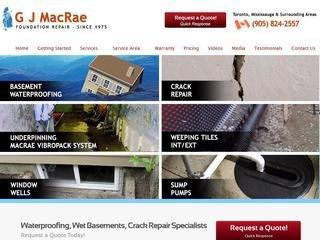 G J MacRae Foundation Repair, 470 Winston Churchill Blvd , ON, Oakville