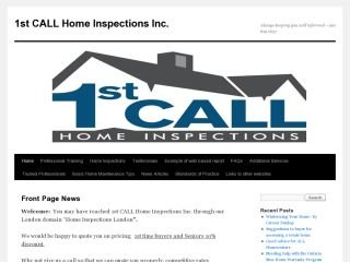 1st CALL Home Inspections Inc. , ON, London