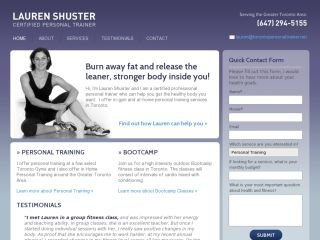 Lauren Shuster Personal Trainer, 312 Cedarvale Avenue , ON, Toronto