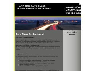 ANY TIME AUTO GLASS CANADA, 4000 Steeles Ave w , #34, ON, Woodbridge