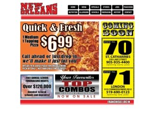 New Orleans Pizza, 265 Eramosa Rd , ON, Guelph