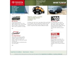 Wietzes Toyota, 7080 Dufferin Street , ON, Vaughan