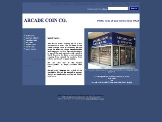 Arcade Coin &amp; Stamp Company, 10 King Street East , Suite 301, ON, Toronto