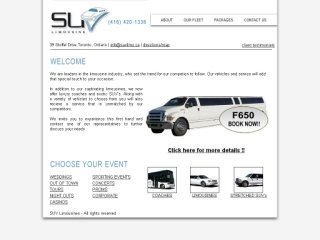 SUV Limousine, 39 Stoffel Drive , ON, Toronto