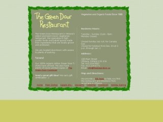 The Green Door Restaurant, 198 Main Street , ON, Ottawa