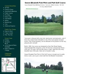 Queen Elizabeth Park Golf Course, 2099 Beach Avenue , BC, Vancouver