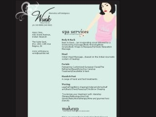 Wink Makeup and  Day Spa, 1901 14th Ave. , 11, SK, Regina