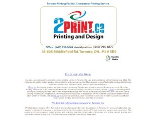 2print.ca, 27 Casebridge acrt , Unit 9, ON, Scarborough