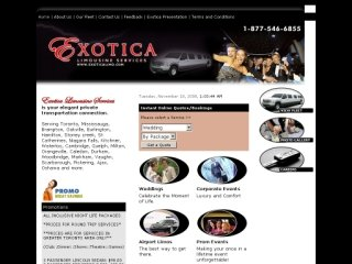 Exotica Limousine Services, 31 Melanie Drive , Unit # 11, ON, Brampton