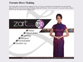 Zart Design and Dress Making, 670 Highway 7 East,  , Unit 73, ON, Richmond Hill