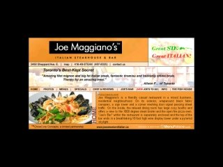 Joe Maggiano's Italian Steakhouse & Bar, 2450 Sheppard Avenue East , ON, North York
