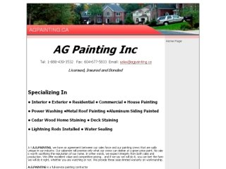 AG Painting Inc. , BC, New Westminster