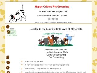 Happy Critters Pet Grooming, 17686 57th Street , BC, Surrey
