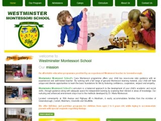 Westminster Montessori School, 41 Rainbow Valley Crescent , ON, Markham