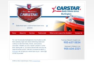 Aro Motors Carstar Collision, 2397 Fairview St , ON, Burlington