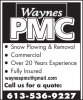 Waynes PMC Landscaping & Lawn Care logo