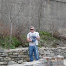 Bill Building granite retaining wall