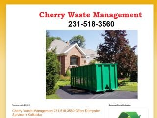 Cherry Waste Management , MI, Kalkaska