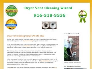 Dryer Vent Cleaning Wizard , CA, Roseville