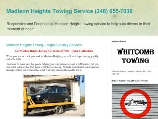 Whitcomb Towing , MI, Madison Heights
