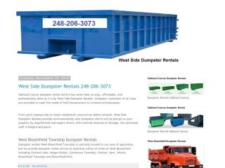 West Side Dumpster Rentals , MI, West Bloomfield Township