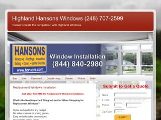 Highland-Hansons Windows, Roofs and Siding, - , MI, Highland charter Township