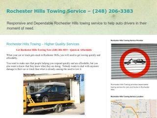 Rochester Hills Towing, - , MI, Rochester Hills