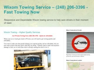 Right Now Towing, - , MI, Wixom