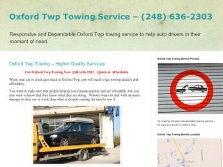 Ox Towing, - , MI, Oxford