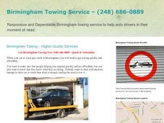 Fast Towing Now, - , MI, Birmingham
