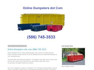 Online Dumpsters dot Com, - , MI, Washington
