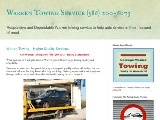 Chicago Mound Towing Service, - , MI, Warren