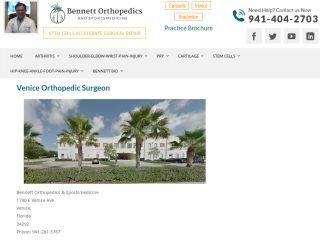 Bennett Orthopedics & Sportsmedicine, 1790 E Venice Ave , FL, Venice