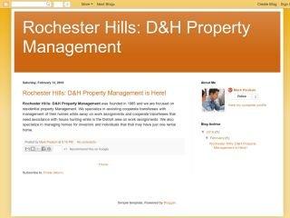 Rochester Hills: D&H Property Management, - , MI, Rochester Hills