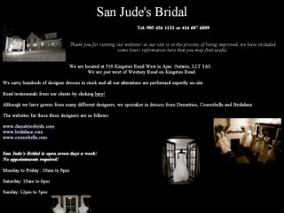 San Jude's Bridal, 510 Kingston Road West , ON, Ajax