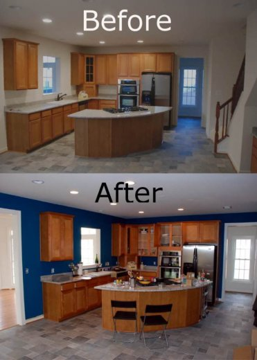 Painting Before and after